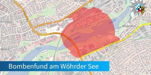 UPDATE: Fliegerbombe in Wöhrder See erfolgreich entschärft