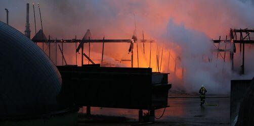 Brand in Biogasanlage: Millionenschaden in Osterberg