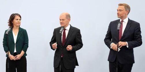 Ampelregierung ist das Ziel für die SPD, Grüne und FDP