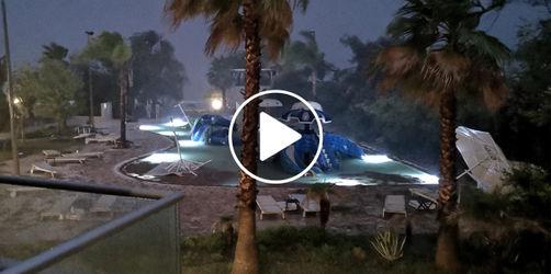 Schwerer Hagel-Sturm in Griechenland: verwüstete Hotels, mindestens 6 Tote