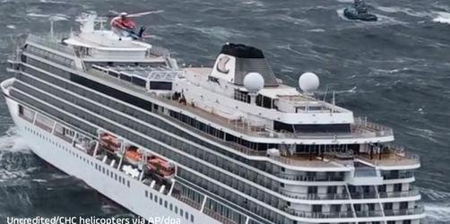 Rettung von Kreuzfahrtschiff: Spektakuläres Video veröffentlicht