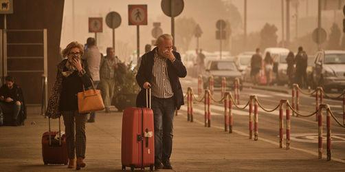 Sandsturm auf den Kanaren: Karneval und Flugverkehr lahmgelegt