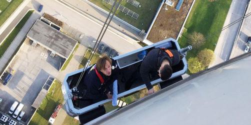 Fensterputzen extrem: Leikermoser muss auf den Olympiaturm in München