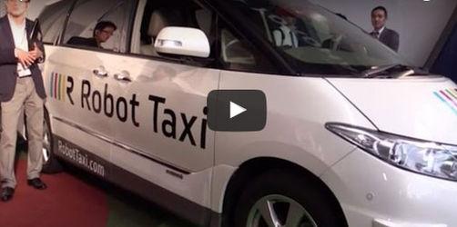 Taxi fahren mit einem Roboter