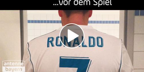Cristiano Ronaldo: Seine Freistoßpose macht er auch im Alltag!