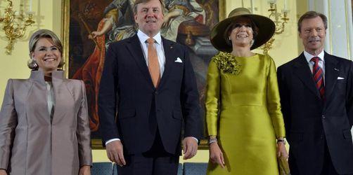 Niederländisches Königspaar in Luxemburg zu Gast