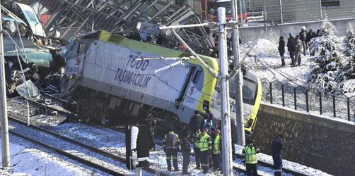 Mindestens neun Tote nach Zugunglück in Ankara