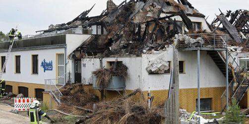 Strandhotel an der Ostsee niedergebrannt