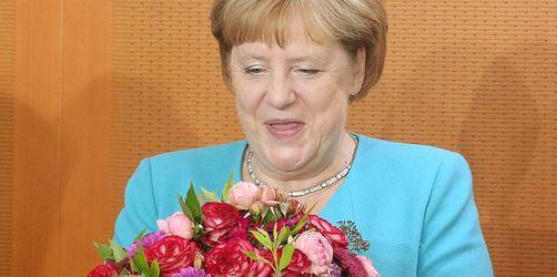 Blumen und Glückwünsche für die Kanzlerin - Merkel wird 65