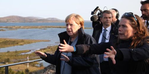 Merkel in Island: «Toter» Gletscher Symbol des Klimawandels