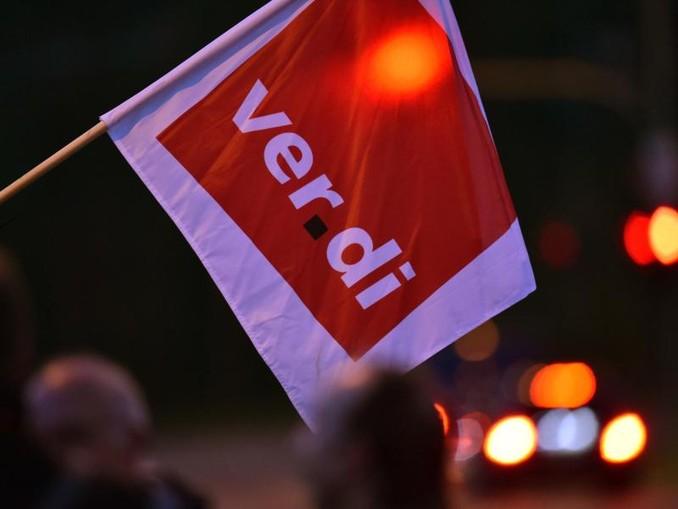 Eine Fahne der Gewerkschaft Verdi. /Archiv