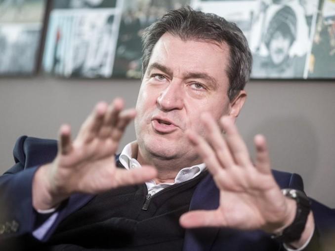 Markus Söder, Ministerpräsident des Freistaates Bayern und CSU-Parteivorsitzender, aufgenommen bei einem dpa Interview.