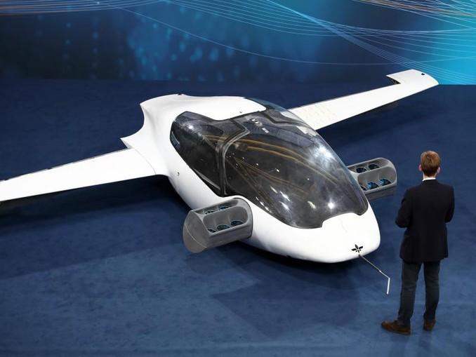 Der Prototyp des ersten flugfähigen «Flugtaxis» des Herstellers Lilium. /Archivbild