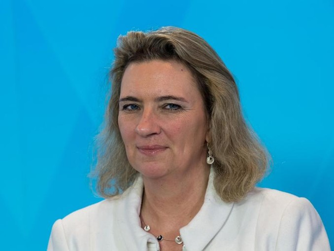 Kerstin Schreyer (CSU), bayerische Familienministerin, nimmt an einer Pressekonferenz teil. /Archivbild