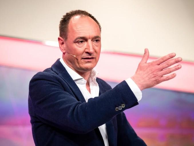 Max Conze, Vorstandsvorsitzender der ProSiebenSat.1 SE, spricht bei der Bilanz-Pk 2019. /Archivbild