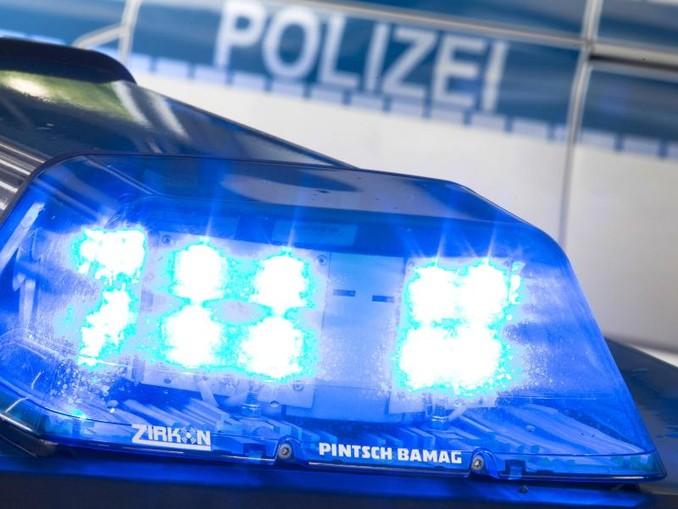 Ein Blaulicht leuchtet auf dem Dach eines Polizeiwagens. /Archivbild