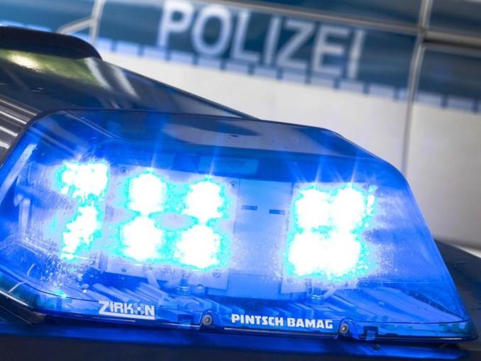 Ein Polizeiwagen mit Blaulicht. /dpa