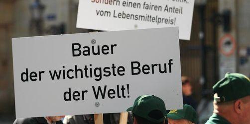 Bauerndemo in Würzburg frühzeitig beendet