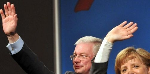 Hessen-Wahlkampf: Merkel und Koch greifen SPD an