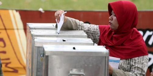 Indonesien hat gewählt - Präsidentenpartei vorn