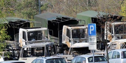Bei Anschlag auf Bundeswehr 42 Fahrzeuge zerstört