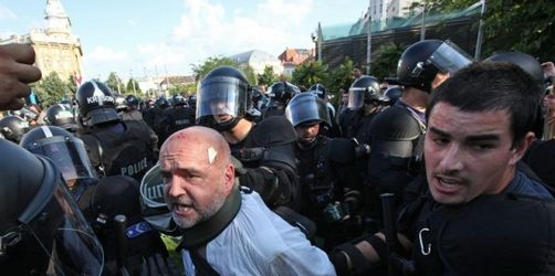Zusammenstöße bei Rechtsradikalen-Demo in Ungarn