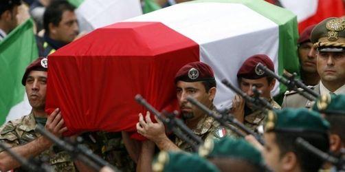 Staatsbegräbnis in Rom für Afghanistan-Opfer