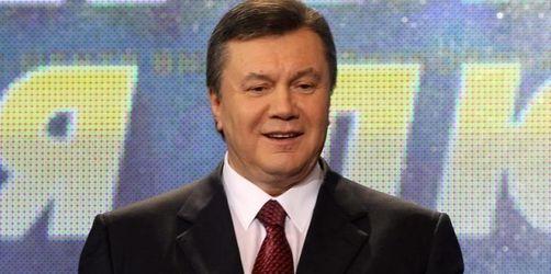 Janukowitsch als Präsident der Ukraine vereidigt