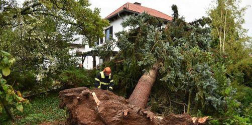 Sturmtief zieht über Süd- und Mitteldeutschland