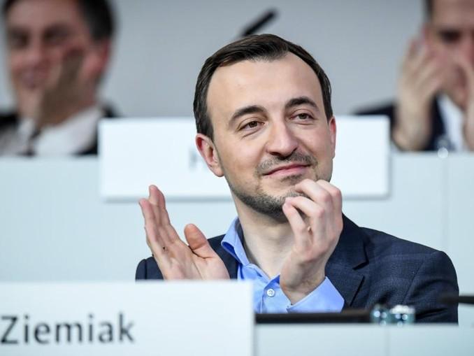 Paul Ziemiak am Samstag beim CDU-Bundesparteitag in Hamburg.