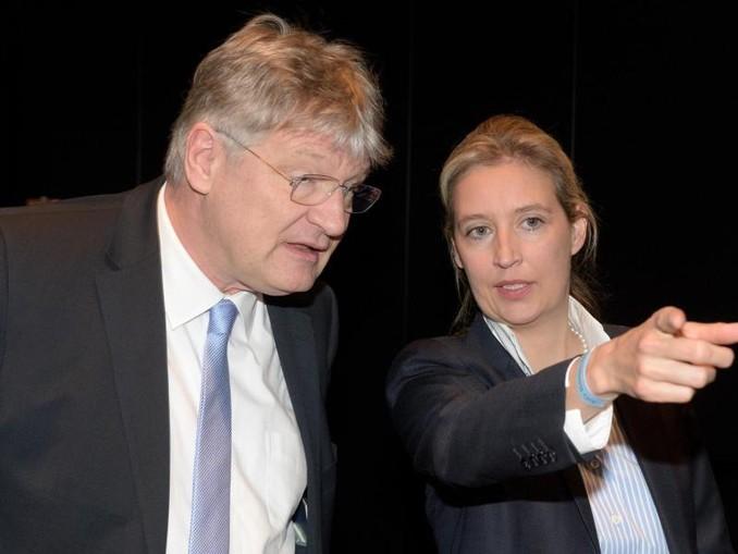 Nutznießer der möglicherweise illegalen Parteispenden: AfD-Fraktionschefin Alice Weidel und der Bundesvorsitzende Jörg Meuthen.