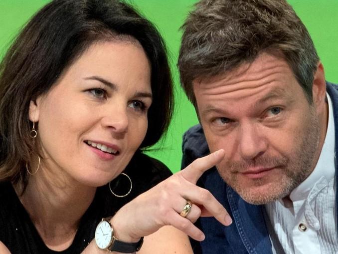Erfolgsduo: Annalena Baerbock und Robert Habeck, die Bundesvorsitzenden von Bündnis 90/Die Grünen.