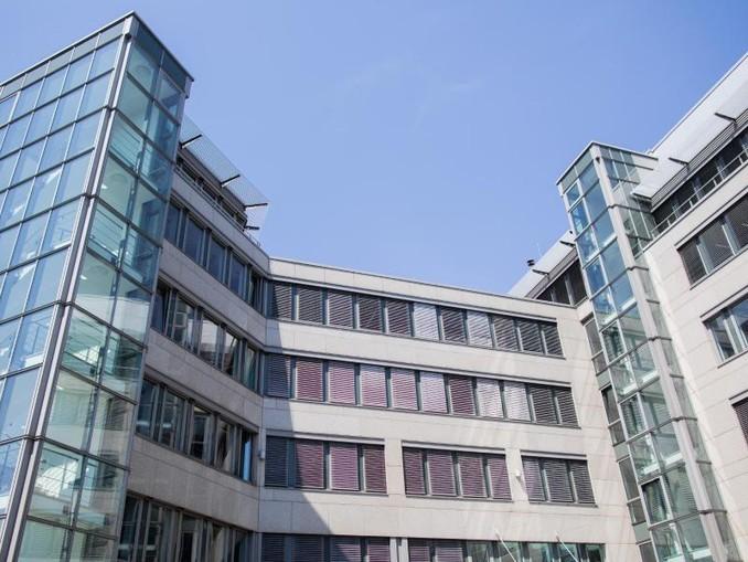 Blick auf das Bürogebäude in Düsseldorf, in dem die Landesparteizentrale der AfD Nordrhein-Westfalen untergebracht ist.