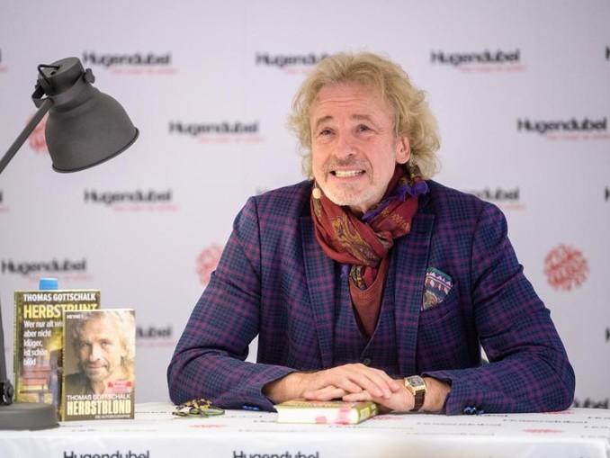 Thomas Gottschalk stellt sein neues Buch in München vor.