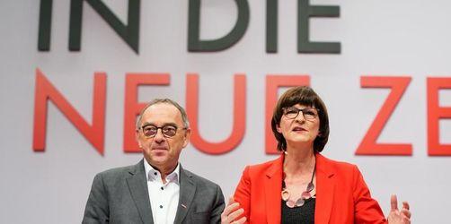 SPD rutscht nach Entscheidung für neue Parteispitze ab