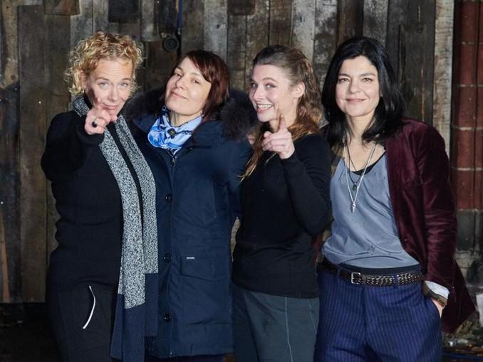 Krebitz, Svenja Jung und Jasmin Tabatabai (l-r) spielten gemeinsam in «Bandits». /dpa