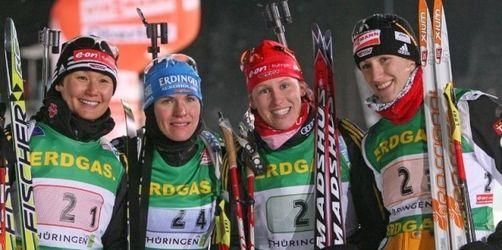 Deutsche Biathletinnen Staffel-Dritte in Oberhof