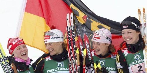 Deutsche Damen-Staffel feiert Sensations-Silber
