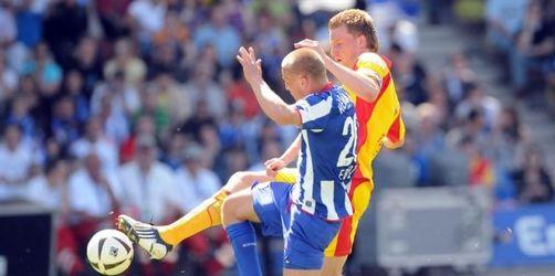KSC steigt trotz Sieg ab - Hertha: Nur UEFA-Cup