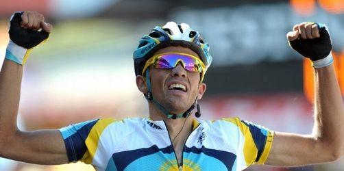 Contador fährt auf Königsetappe in Gelbes Trikot