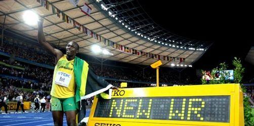 Bolt mit Weltrekord Weltmeister über 100 Meter