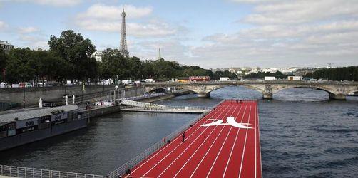 Paris wirbt mit schwimmender Laufbahn für Olympia 2024