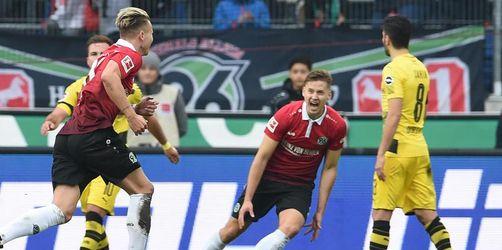 Hannover stürzt Dortmund mit 4:2-Sieg tiefer in die Krise
