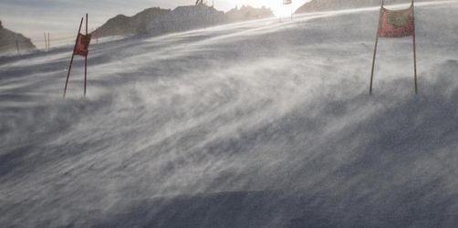 Sturm auf dem Gletscher: Herren-Riesenslalom abgesagt