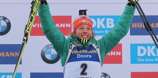 Biathletin Dahlmeier holt in Antholz zweiten Saisonsieg