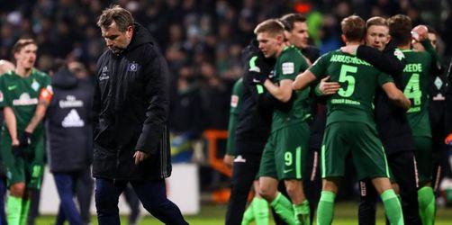 Glücklicher Sieg im Abstiegskampf:Werder bezwingt den HSV