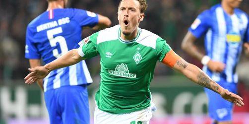3:1 gegen Hertha BSC - Werder Bremen gewinnt Topspiel