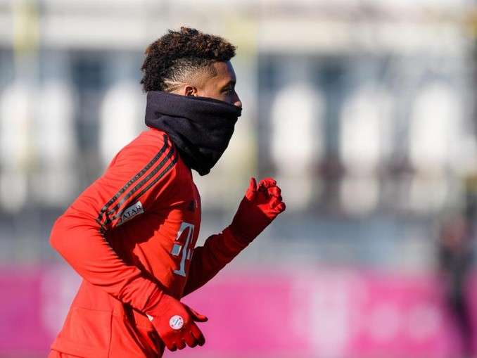 Kingsley Coman vom FC Bayern München während einer Trainingseinheit. /Archiv