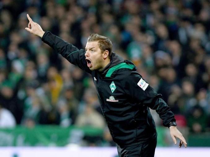 Mit seinem Team gegen Düsseldort unter Zugzwang: Werder-Coach Florian Kohfeldt.