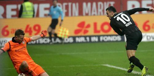 Sieg mit Volldampf: Frankfurt gewinnt 2:1 gegen Bayer